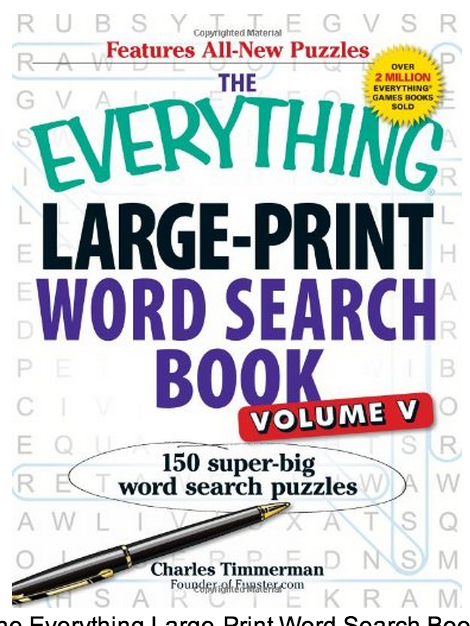 Large print word search png