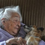 95 year old woman with dog