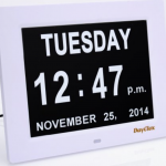 day clock with day and date