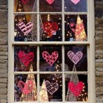 Valentine's Day Window Clings